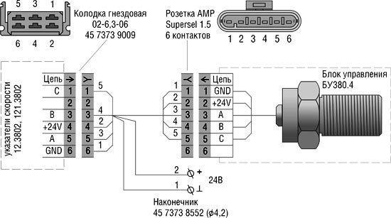 Схема подключения на машине