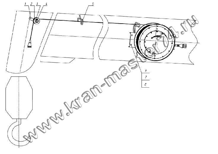 Датчик длины стрелы ДДС15.15