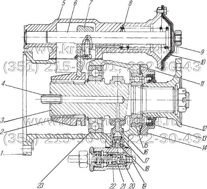оробка дополнительного отбора мощности КС-3574.14.100  КДОМ Урал 5557-4202010 (пневмовключение)