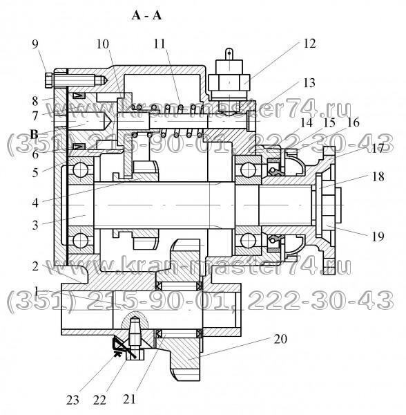 Коробка отбора мощности автокрана КОМ КамАЗ МП05-4202010, КС-45717.14.100 (20, 22 зуб.)