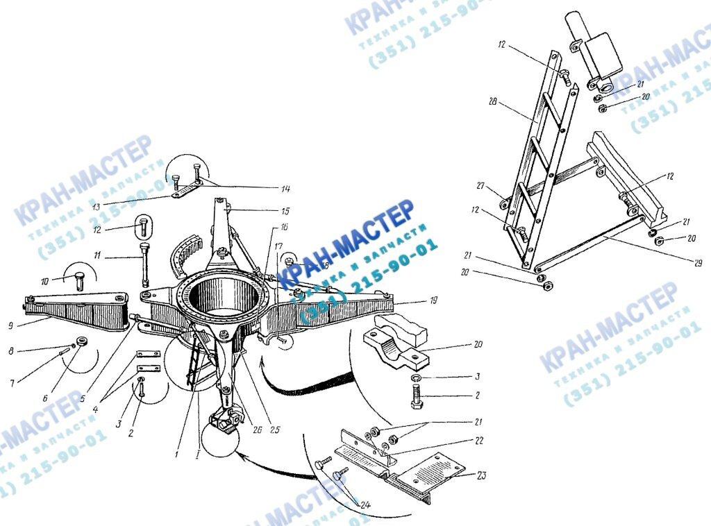 Рама ходовая КБ-401А.01.00.000 для башенного крана КБ-401А