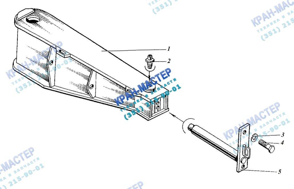 Флюгер КБ-401А.01.02.000 для башенного крана КБ-401А