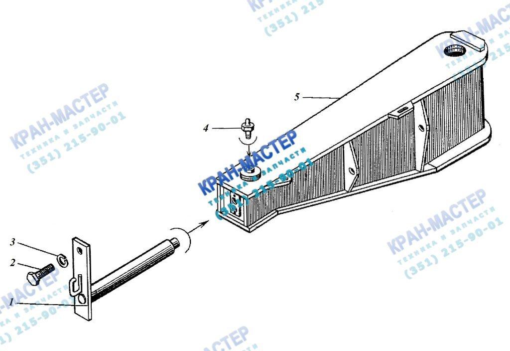 Флюгер КБ-401А.01.06.000 для башенного крана КБ-401А