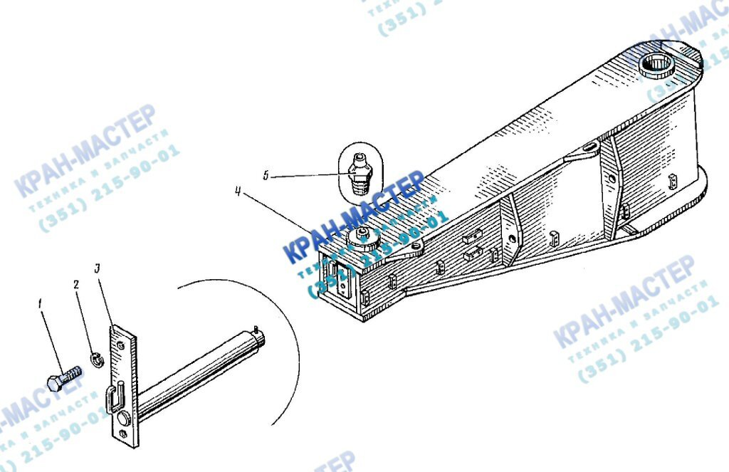 Флюгер КБ-401А.01.08.000 для башенного крана КБ-401А