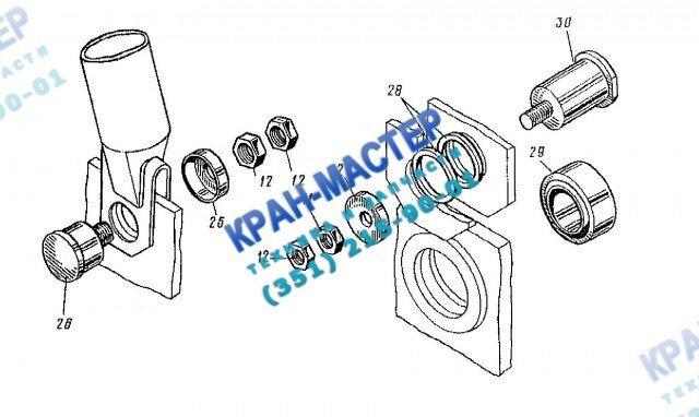 Платформа поворотная КБ-401А.02.00.000 башенного крана КБ-401А