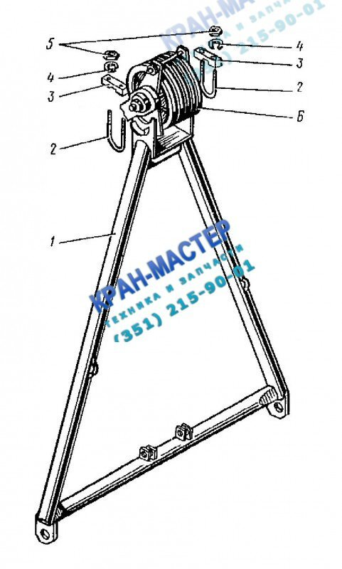 Стойка монтажная КБ-401А.02.03.000 для башенного крана КБ-401А