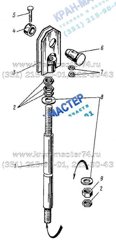 Тяга КБ-401А.02.06.000 для башенного крана КБ-401А
