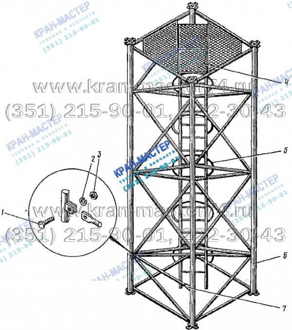 Секция башни КБ-401А.03.03.000 для башенного крана КБ-401А
