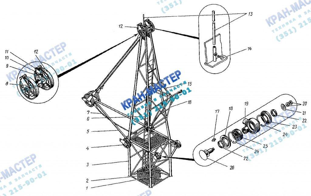 Оголовок КБ-401А.03.05.000 для башенного крана КБ-401А