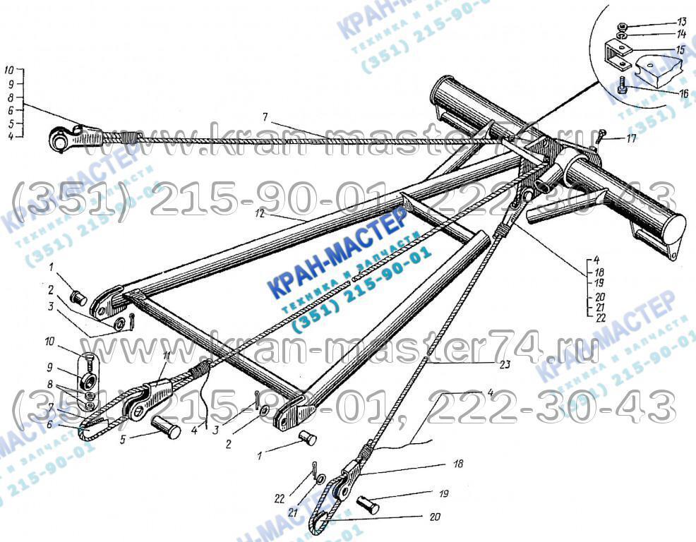 Стойка монтажная КБ-401А.03.05.160 для башенного крана КБ-401А