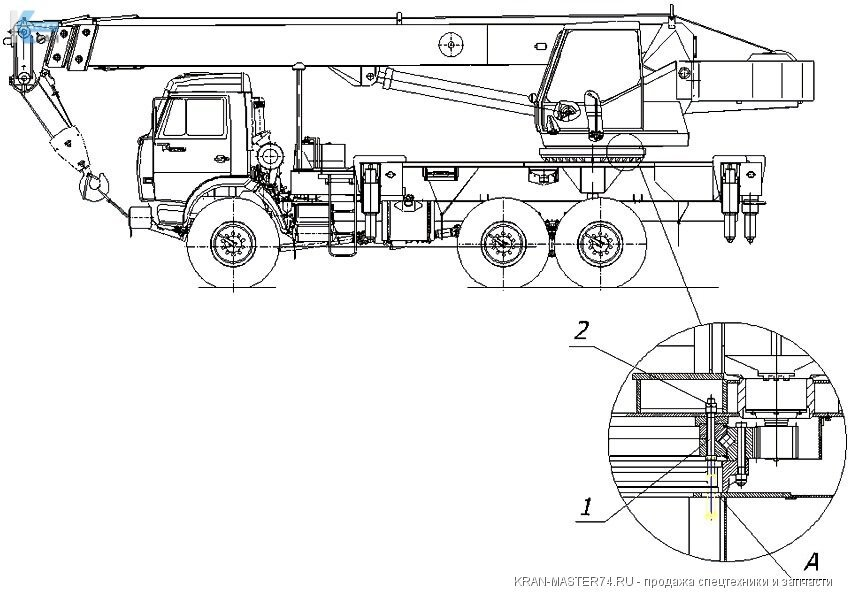 Крепление опорно-поворотного устройства - КС-4574-17.100-04 автокрана Клинцы КС-45719, КС-55713