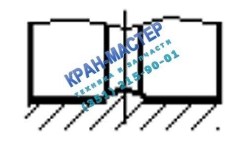 Рисунок 2. Места износа опорно-поворотного круга на поверхности ролика – в виде кольцевой канавки, а на беговой дорожке – в виде кольцевого выступа