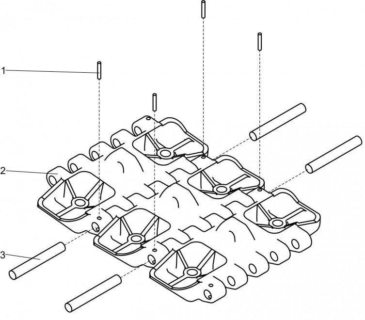 Гусеничная лента 25.08.00.000 (гусеница) для крана ДЭК-251