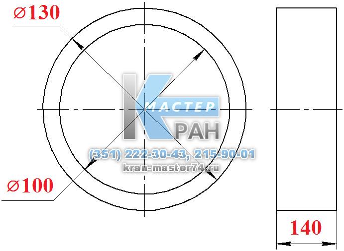 тулка оси КС-45721В.63.20.022 основания стрелы автокрана Челябинец КС-45721, КС-55730, КС-55732
