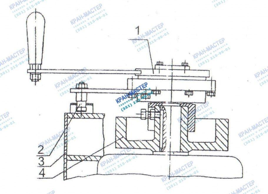 Установка безопасной рукоятки У3515.42П.1, У3515.42С.1