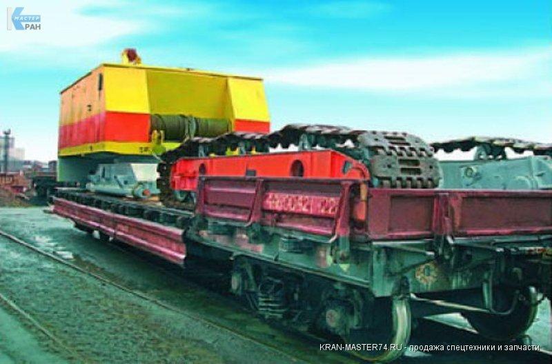 Транспортировка (перевозка) крана гусеничного ДЭК-251 по железным дорогам.