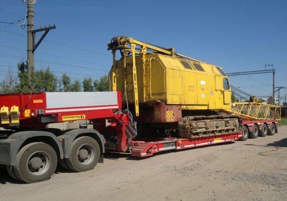 Перевозка крана гусеничного ДЭК-251 по автодорогам