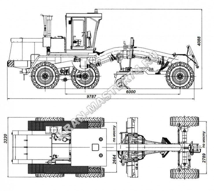 Габаритные размеры автогрейдера ДЗ-98