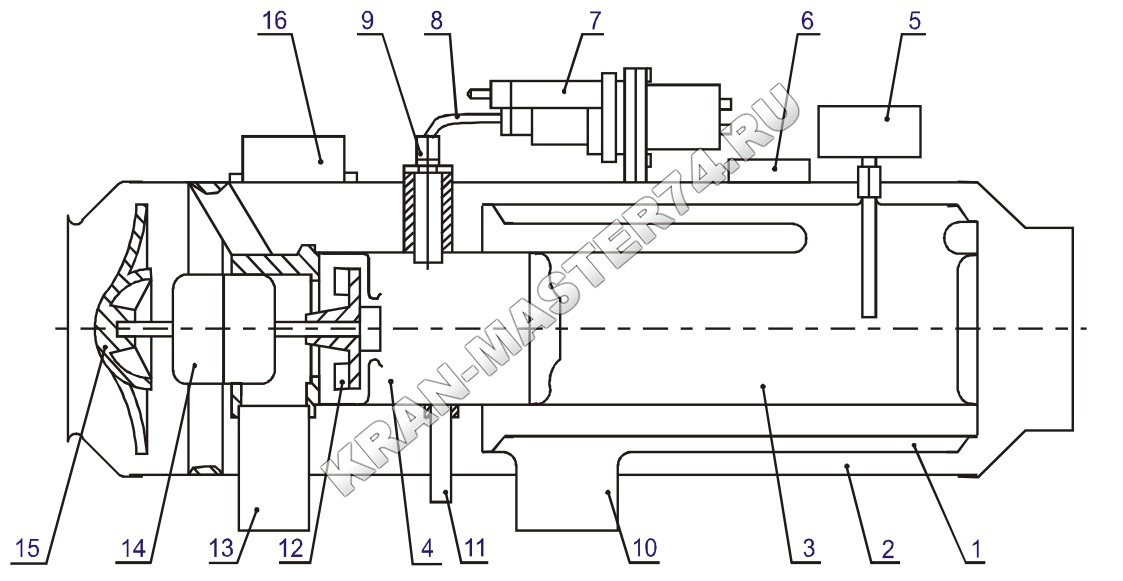 Автономный отопитель О30-0010-20 (12;24В) для автомобилей, микроавтобусов, автокранов, экскаваторов