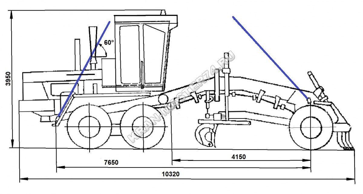 Схема строповки и транспортирование (перевозка) автогрейдера ДЗ-98