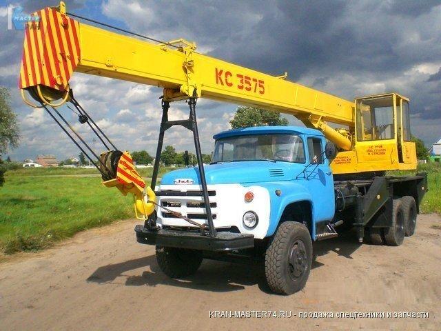 Рабочие параметры автомобильного крана КС-3575А грузоподъемность 10 т.н