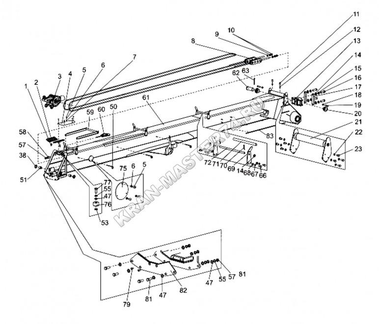 Секция первая КС-45721Г.63.20.000 (гексагональный профиль) автокрана Челябинец КС-45721