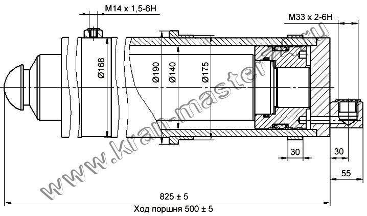 Гидроцилиндр КС-4572А.31.200