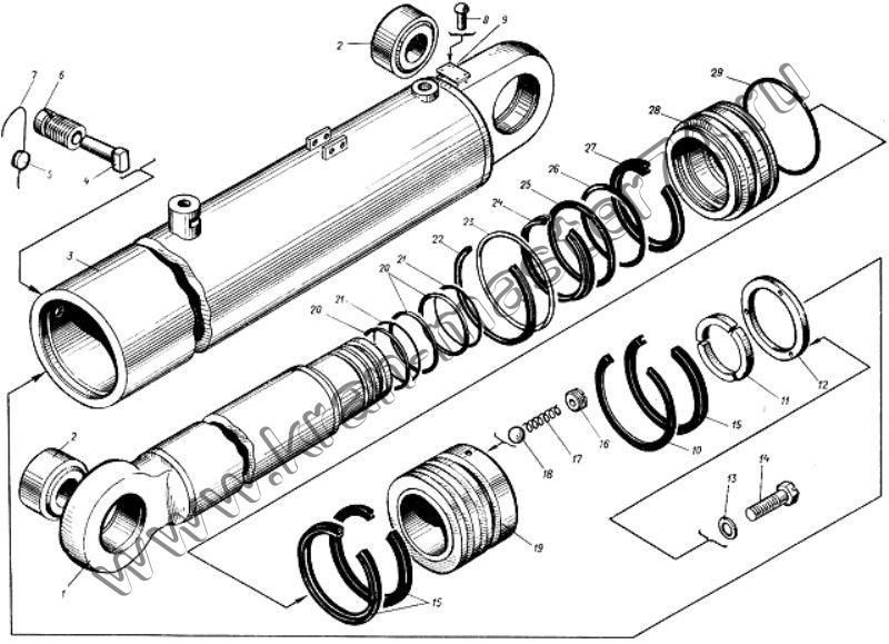 Гидроцилиндр подъема стрелы