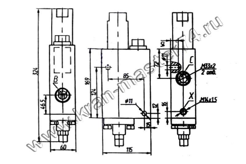 Обозначение на принципиальной гидравлической схеме.