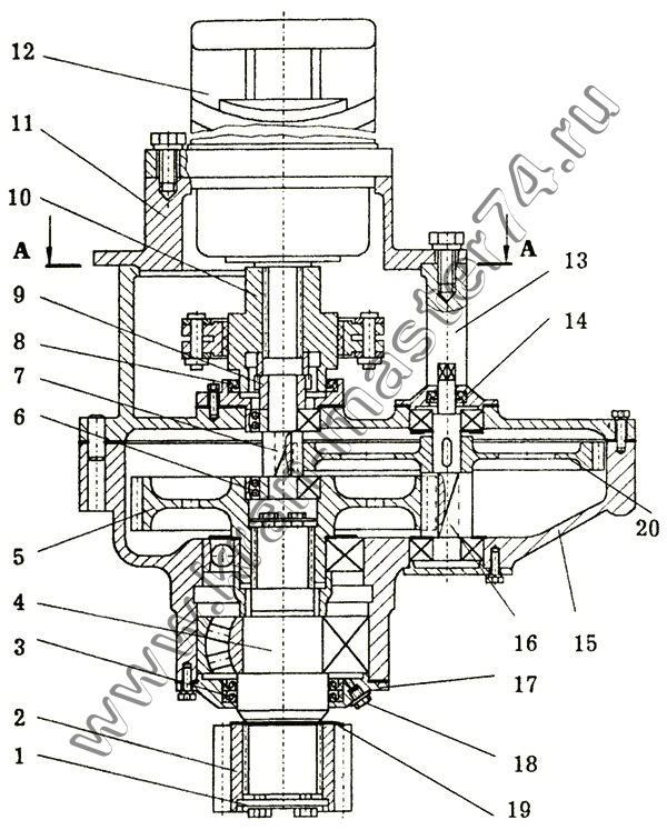 Механизм поворота КС-3577.28.000-1
